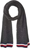 Tommy Hilfiger Mens Global Stripe Ribbed Scarf