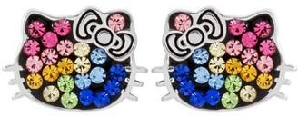 Hello Kitty Sterling Silver Multi Crystal Earrings