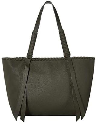 AllSaints Kepi Small East/West Tote (Storm Grey) Handbags