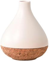 Eclipse Ceramic & Cork Flower Vase