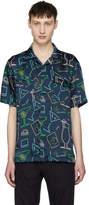 Sunnei Blue Cocktail Print Hawaiian Shirt
