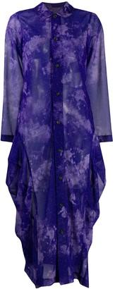Comme des Garçons Comme des Garçons Abstract-Print Shirt Dress