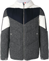 Moncler Gamme Bleu hooded bomber jacket - men - Cotton/Feather Down/Cupro/Feather - 1