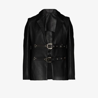 Tokyo James X Homecoming buckled leather blazer