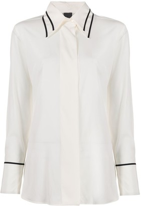 Lorena Antoniazzi contrast trim loose-fit shirt