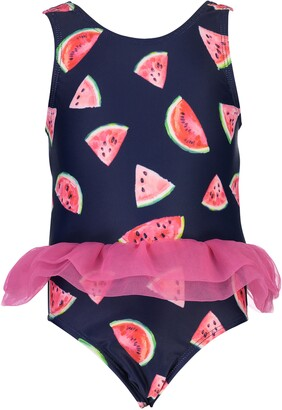 Snapper Rock Watermelon Print Skirted One-Piece Swimsuit