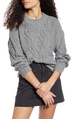 Cotton Emporium Textured Cable Sweater