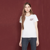 Maje T-shirt with embroidered lettering