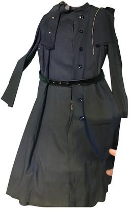 Louis Vuitton Black Cotton Trench Coat for Women