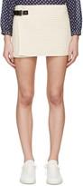 Isabel Marant Ecru Quilted Gael Miniskirt