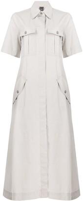 Lorena Antoniazzi Boxy Fit Oversized Collar Shirt Dress