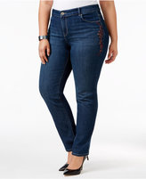 Style&Co. Style & Co Plus Size Embroidered Marseilles Wash Slim-Leg Jeans, Only at Macy's