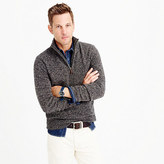 Tall Marled Lambswool Half-zip Sweater