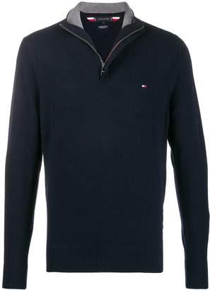 Tommy Hilfiger zip front knit sweatshirt