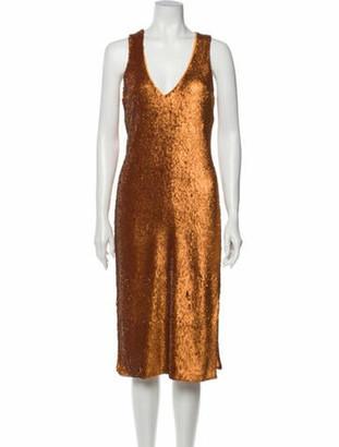 Prabal Gurung Coppernic Midi Length Dress Orange