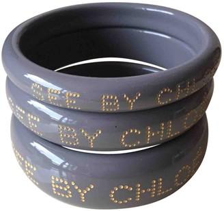Chloé Grey Plastic Bracelets