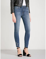 Good American Good Legs Star Eyelets skinny high-rise jeans