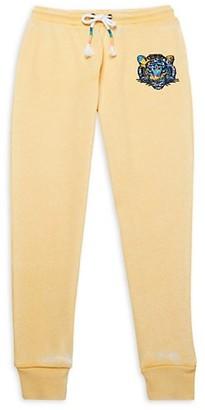 Vintage Havana Girl's Tiger-Print Cotton-Blend Jogger Pants