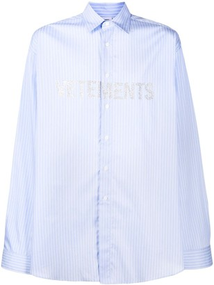 Vetements Logo Print Oversized Shirt