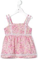 Cashmirino - Floral top with lace inserts - kids - Cotton - 2 yrs