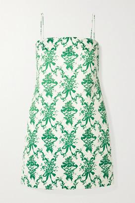 Emilia Wickstead Miu Floral-print Faille Mini Dress - Ivory
