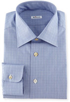 Kiton Glen Plaid Woven Dress Shirt, Blue