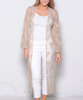 Paparazzi Sand Sheer Lace Duster