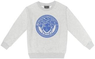Versace Kids Logo stretch cotton sweater