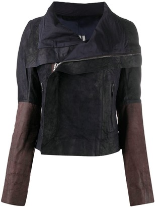 Rick Owens Deconstructed Zip-Up Biker Jacket