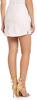 BCBGeneration Hi-Low Faux-Leather Mini Skirt