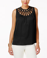 Thalia Sodi Lattice-Trim Tank Top, Created for Macy's