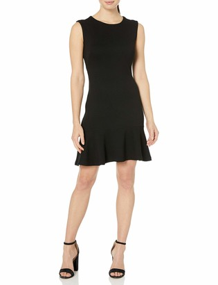 Lark & Ro Women's Sleeveless Sheath Dress with Hem Ruffle