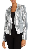 Blank NYC Blanknyc Sequined Open-Front Blazer