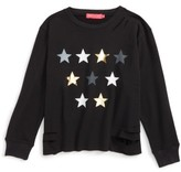 Menu Girl's Star Graphic Destructed Sweatshirt