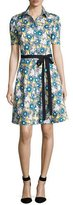 Carolina Herrera Daisy-Print Short-Sleeve Shirtdress