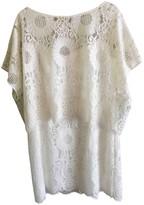 Trina Turk White Cotton Dress for Women