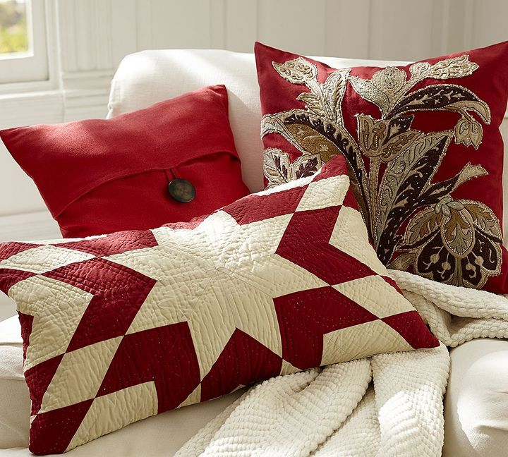 Pottery Barn Starburst Quilted Pillow Collection