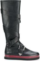 Emporio Armani buckled boots
