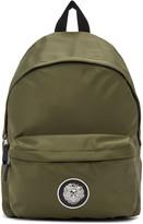 Versus Green Nylon Logo Backpack