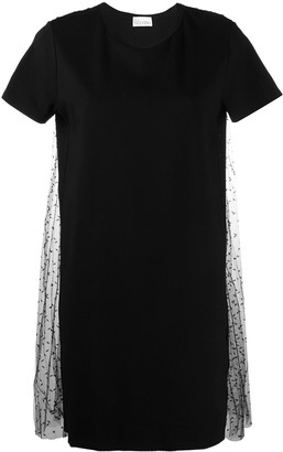RED Valentino point d'esprit pleated T-shirt dress