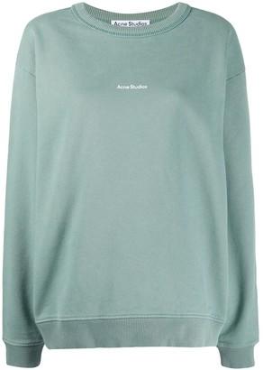 Acne Studios Logo-Print Cotton Sweatshirt