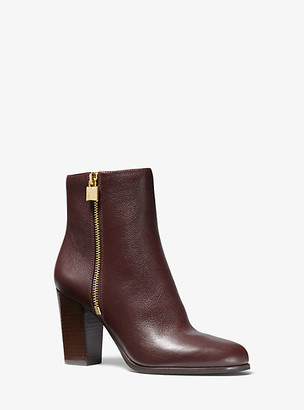 Michael Kors Frenchie Tumbled Leather Ankle Boot