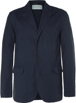 Our Legacy Blue Archive Unstructured Linen and Cotton-Blend Blazer