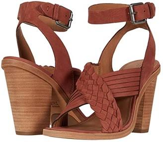 Frye Sara Crisscross Sandal (Rosewood Nubuck) Women's Shoes