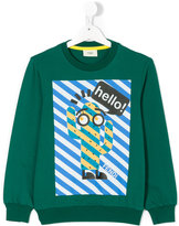 Fendi printed sweatshirt - kids - Cotton/Spandex/Elastane - 8 yrs