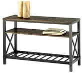 Progressive Oak Hill Console Table - Wire Brushed Oak Furniture