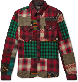 Ralph Lauren RRL Patchwork Cotton And Wool-Blend Flannel Overshirt