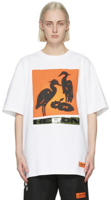 Heron Preston White and Orange Nightshift T-Shirt