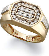 Macy's Men's Diamond Rectangle Ring in 14k Gold (1/2 ct. t.w.)
