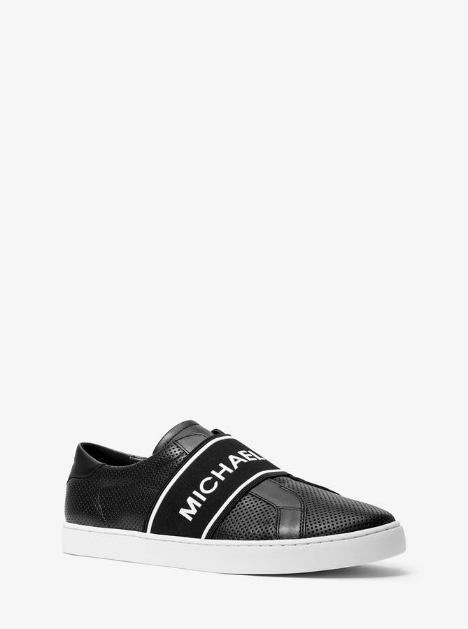 Michael Kors Archibald Perforated Leather Slip-On Sneaker